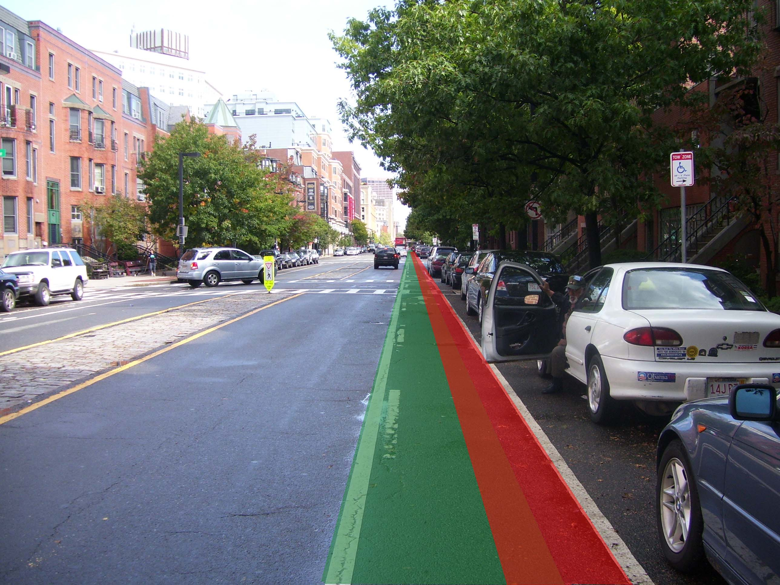 Note I added a bit more red to this because this guy had managed to & Boston Biker » dooring