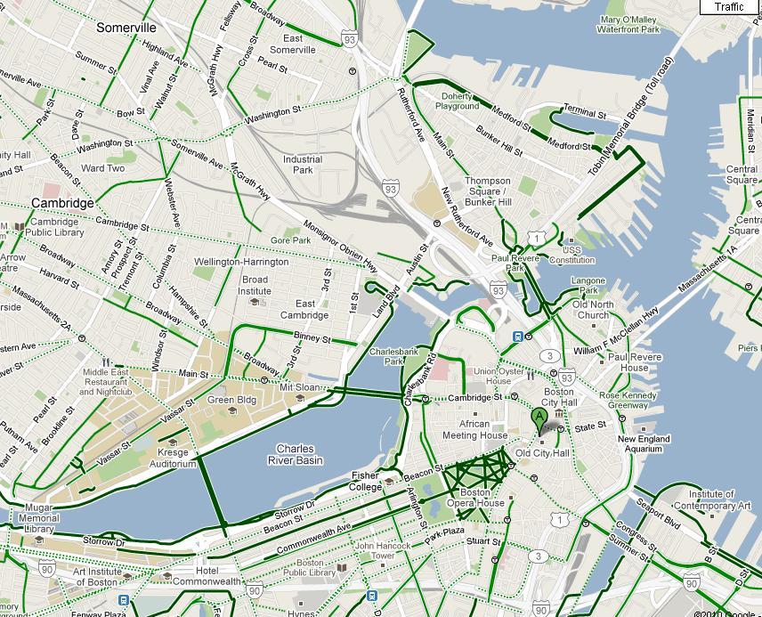 "Boston Biker » Blog Archive » Google Adds ""By Bike"" To Google Maps"