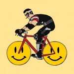 the-comedian-on-a-bike-with-smily-face-wheels